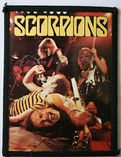 SCORPIONS Original Vintage 1980`s Sew On Photo Card Patch not lp shirt cd badge