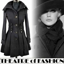 TOPSHOP CORSET COAT JACKET VINTAGE 8 36 4 6 40s WAR BRIDE 50s VICTORIAN RIDING