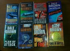 Dale Brown Books 8 Lot Wings Of Fire WHIPLASH Air Battle Force EDGE OF BATTLE +