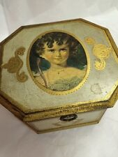 VTG Enesco Gilded Gold Octagon Jewelry Music Box