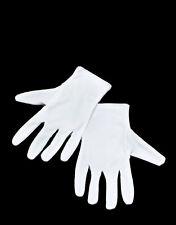 ADULT WHITE GLOVES HALLOWEEN GHOST MIME MAID COSTUME FANCY DRESS MENS LADIES NEW