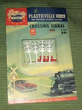 Vintage Plasticville 2303,HO Scale,Crossing Signals,4 Lights,Sealed, Bachmann