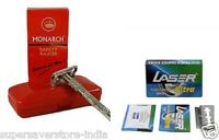 Monarch Butterfly Double Edge Shaving Safety Razor With free 30  BLADES