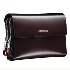 Men Large Capacity Genuine Leather Phone Wallet Business Evening Clutch Bag