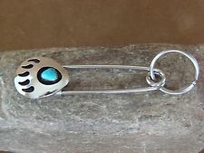 Native American Jewelry Handmade Turquoise Bear Paw Key Chain by Virginia Long