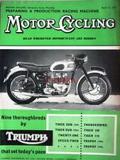 Apr 11 1957 TRIUMPH Motor Cycles ADVERT - Original Magazine Cover Print