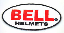 BELL MOTORCYCLE HELMETS Embroidered Iron Sew On Cloth Patch Badge  APPLIQUE