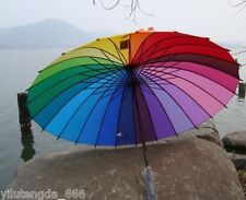 New Very beautiful rainbow Umbrella Parasol For Wedding Party Favor