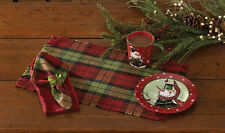 PLACEMAT - BUNDLE UP - PARK DESIGNS - CHRISTMAS HOLIDAY RED GREEN BLACK PLAID