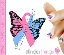 Pregnancy Loss Angel Baby Ribbon Butterfly Nail Decal Sticker BFY153