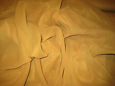 """GOLD SOLID PLAIN 100% POLYESTER CHIFFON FABRIC 58"""" WIDE BY THE YARD"""