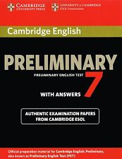 Cambridge PRELIMINARY ENGLISH TEST PET 7 Book with Answers OFFICIAL PAPERS @NEW@