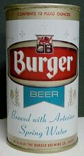1970 Burger Beer Pulltab Can - Cincinnati, OH - West Virginia Tax Paid Bottom