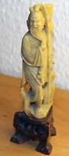Chinesische Speckstein Figur Fischer Soapstone Carving chinese carved old man