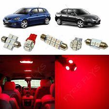 7x Red LED lights interior package kit for 2004-2009 Mazda 3 MT2R