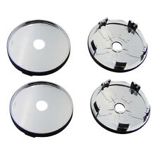 4X Universal Car Auto Wheel Center Hub Chrome Plastic Cap Sticker 60mm Tyre Trim