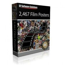 2,467 FILM POSTERS ON DVD ORGANISED A-Z. PRINTABLE HIGH RESOLUTION JPEG IMAGES!