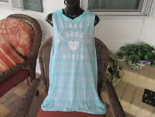 VICTORIA'S SECRET Hooded Swim Cover Up TAKE ME BACK TO THE BEACH sz S NWT $59.50