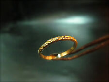 14k handmade solid yellow gold unique wedding ring for woman