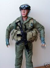 "1:6  Armour IDF Israel Army Forces Paratrooper Galil Rifle Soldier Figure 12"" B"