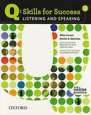 Oxford Q: SKILLS FOR SUCCESS 3 Listening & Speaking with Online Practice @NEW@