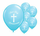 "10 BLUE FIRST HOLY COMMUNION 11"" HELIUM BALLOONS PARTY DECORATIONS (PA)"