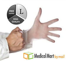 100 /Box Vinyl Disposable Non-Latex Medical Exam Gloves 5 Mil Thick Size: Large