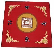 "31"" Red Slip Slide Resistant Mahjong Domino Card Game Table cover Mat"
