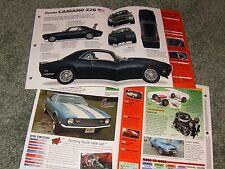 1968 CHEVY CAMARO Z28 SPEC INFO POSTER BROCHURE AD 68 67 69