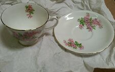 Vintage  Clarence Bone China Floral Cup & Saucer