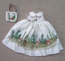 NEO BLYTHE DRESS SLEEVELESS CLOTH MUSHROOM EMBROIDED MATCH HANDBAG OUTFIT