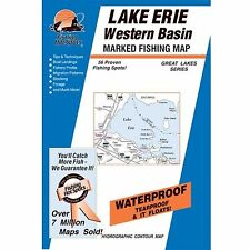 Fishing Hotspots L295 Ohio Lake Maps Lake Erie Central Basin West