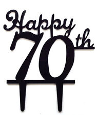 Happy 70th Birthday Anniversary Number Cake Topper Party Decoration Favor Sign