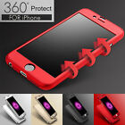 Luxury 360° Hybrid Acrylic Hard Case+Tempered Glass Cover For iPhone 6 & 6S Plus