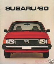 Auto Brochure - Subaru - Product Line Overview - 1980 (AB290)