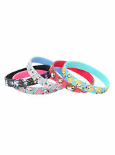 NEW! Hatsune Miku Themed Multi-Color 5 Pack Rubber Bracelet Set Jewelry