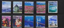 JAPAN 2010 (PREFECTURE) TRAVEL SCENERY SERIES NO. 10 SETO INLAND SEA 10 STAMP FU