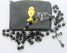 MRT First Holy Communion Boys 2 Piece Catholic Gift Set Lot Rosary & Pouch