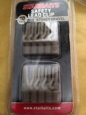 Starbaits Safety Lead Clip Pack Of 10 Stoney Gravel.  Free P&P