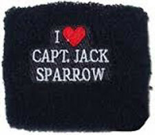 PIRATES OF THE CARIBBEAN Jack Wristband Sweatband NEW OFFICIAL MERCHANDISE Rare