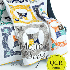 Metro Scope: A Contemporary Quilt Design Pattern Using the Quick Curve Ruler