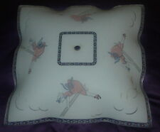 VINTAGE  GIRL ON SWING  CEILING LIGHT SHADE  MID-CENTURY TRADITIONAL