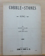 Cobblestones - 1927 sheet music - by Sidney Clare & Lew Pollack