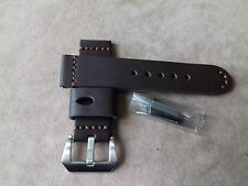 Bracelet marron 24ou22 mm haute qualité cuir  épais (5 mm) pour PANERAI