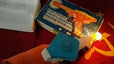 VINTAGE GUN SPACE TOY BATTERY OPERATED RAY PISTOL ORIGINAL BOX SOVIET ERA USSR