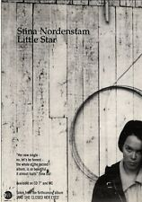 "NEWSPAPER CLIPPING/ADVERT 9/4/94PGN06 7X5"" STINA NORDENSTAM : LITTLE STAR SINGLE"