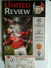 Nuovo di zecca 1999/00 Manchester United v FIORENTINA Champions League con ticket