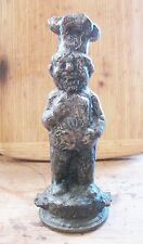 VINTAGE BRONZE TOY MOLD CAST -Mr. Tony Frozen Pizza -1970 -chef cook doll puppet