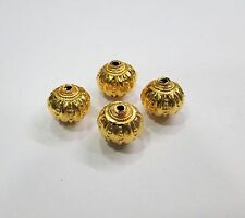 Vintage handmade 22K Gold jewelry beads set of 4 pieces rajasthan india