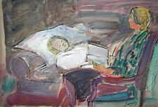 """""""La liseuse"""" Peinture signée robert SAVARY"""